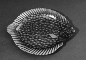 "乾漆皿「華麗」 Dry-Lacquer Plate ""Glorious (Karei)"""